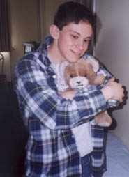 Michael and his teddy bear
