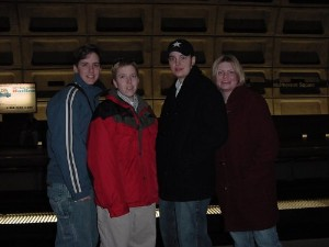 Becky, Matt, Sebastian and Tracy at the Metro station in DC